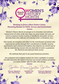 Women's History Month Letter 2021 Template A4
