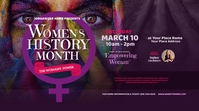 Women's History Month Twitter Post Twitter-Beitrag template
