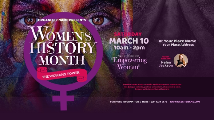 Women's History Month Twitter Post template