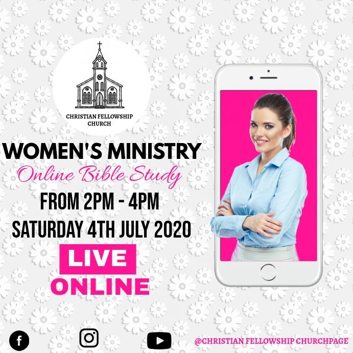 WOMEN'S MINISTRY Instagram 帖子 template