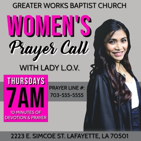 WOMEN'S PRAYER CALL CHURCH FLYER