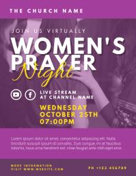 women's prayer night Folder (US Letter) template