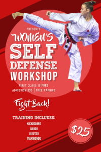 Women's Self Defence Class Poster