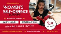 Women's Self Defence Classes Digital Display Image template