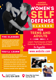 Women's Self Defense Classes Flyer A4 template