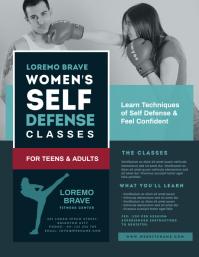 Women's Self Defense Classes Flyer