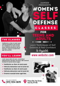 Women's Self Defense Flyer A4 template