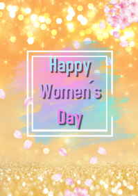 women´s day A4 template
