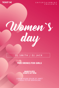 Women´s Day Party Flyer Template