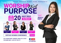 women church conference Postal template