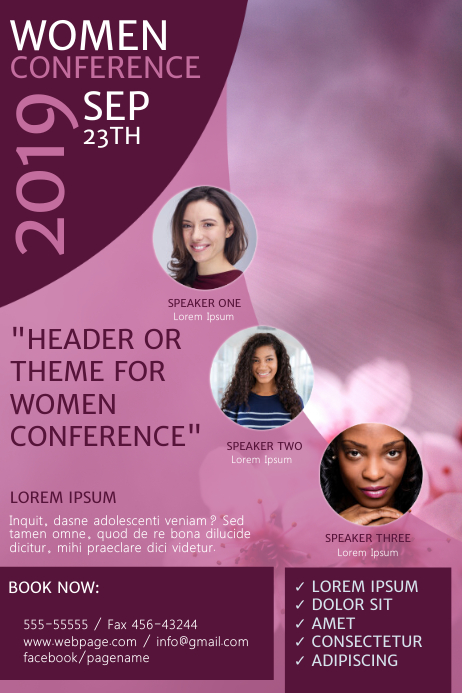 Women Church Conference Event Flyer Template
