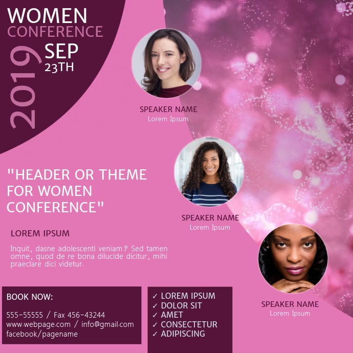 Women Church Conference Event Video Template