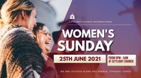 WOMEN church flyer Digitale display (16:9) template