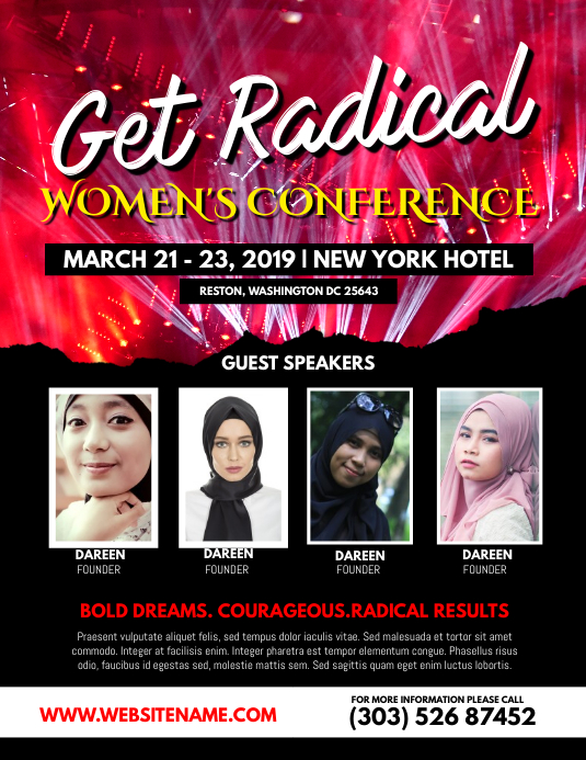 Women Conference Flyer Template  Postermywall
