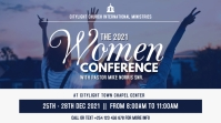 women conference poster design 数字显示屏 (16:9) template