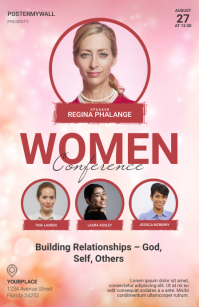 Women Conference seminar flyer template Tabloide
