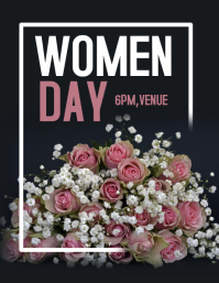 Women day flyer,event flyer,women day template