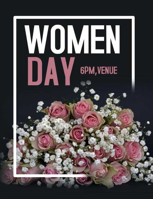 Women day flyer,event flyer,women day template