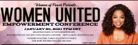 Women Empowerment Conference Banner 2' × 6' template