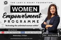 women empowerment program Poster template