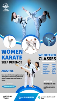 women karate poster Instagram 故事 template