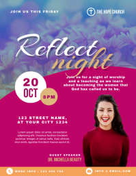 Women Reflect Night Church Flyer