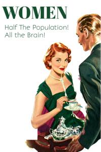 Women Retro Vintage Quote Poster Template