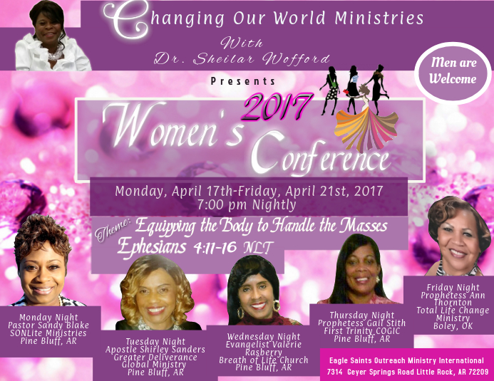 Women's Conference Pamflet (Letter AS) template