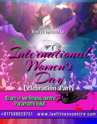 women's day celebration party video invitation