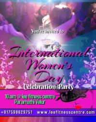 women's day celebration party video invitation