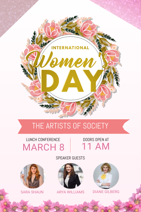 Women's Day Conference Poster Template