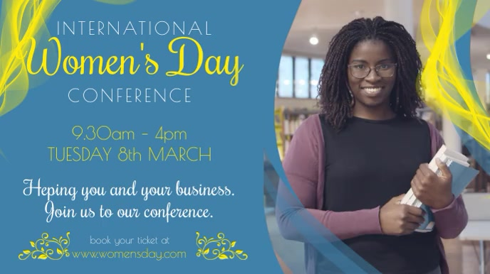 Women's Day Conference Promo Video Template