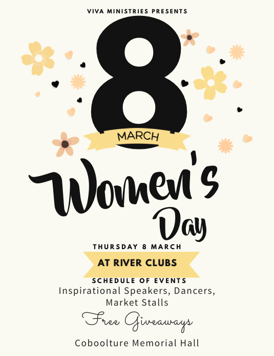 Women's Day Event Flyer Template