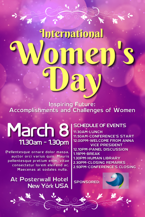 copy of women u0026 39 s day poster template