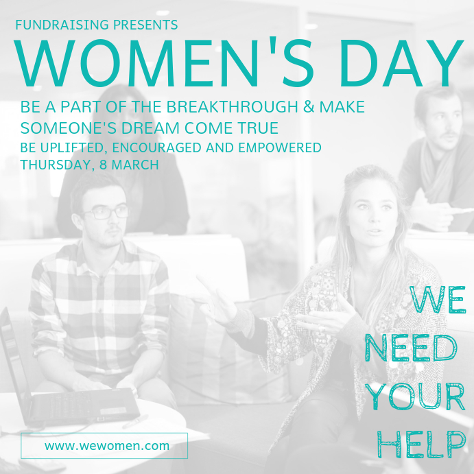 Women's Day Fundraising Image Template Wpis na Instagrama
