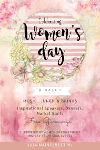 Women's Day Party Flyer Template Poster
