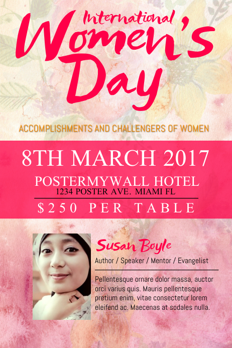 Women's Day Poster Template | PosterMyWall