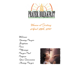 Women's Prayer Breakfast Program Stort rektangel template