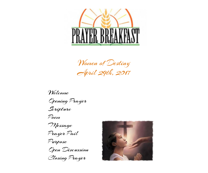 Women's Prayer Breakfast Program Template