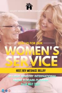 Women Service 海报 template