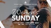 women SUNDAY church flyer Ecrã digital (16:9) template