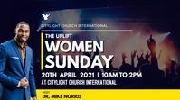 women SUNDAY church flyer Umbukiso Wedijithali (16:9) template