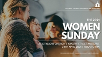 WOMEN sunday church flyer Tampilan Digital (16:9) template