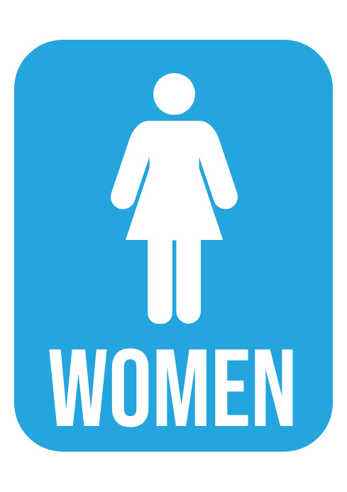 Women Toilet Sign - Restroom Sign A4 template