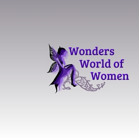 Women World Logo 徽标 template