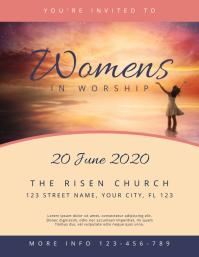 Women Worship Church Flyer