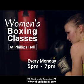 Womens boxing class video