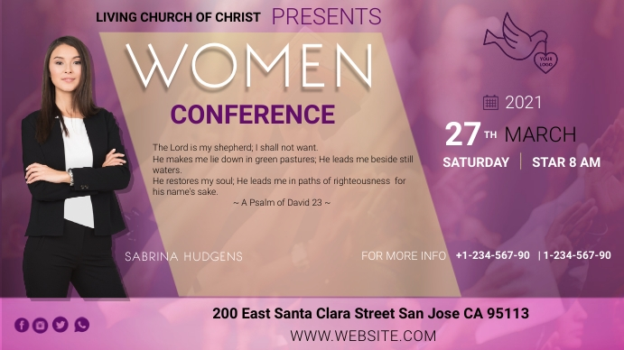 womens conference Twitch Banner template