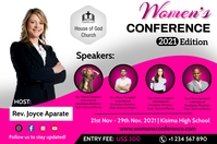 Womens conference Plakat template