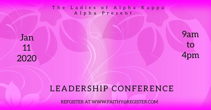 AKA leadership Conference Рекламное объявление Facebook template